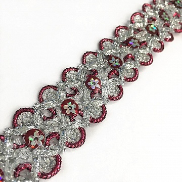 Bänder Sequin bordeaux