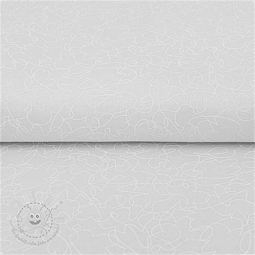 Baumwollstoff QUILTING ILLUSIONS Scribble white