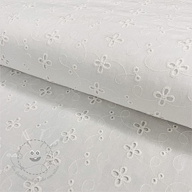 Baumwoll Stickerei Madeira off white 6