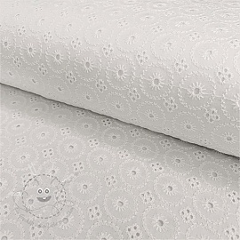 Baumwoll Stickerei Madeira off white 7