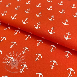 Baumwollstoff Anchor orange