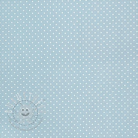 Baumwollstoff Petit dots light blue