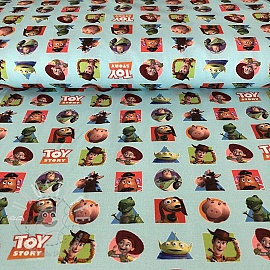 Baumwollstoff Toy Story patch digital print