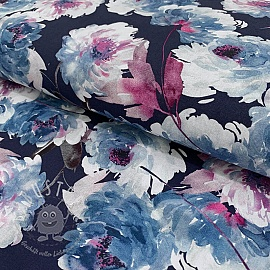 Cotton voile Delia azul