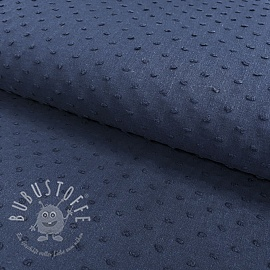 Cotton voile Dotty dark blue
