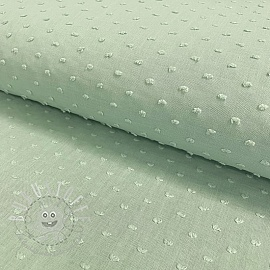 Cotton voile Dotty pastel green