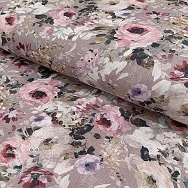 Cotton voile Floris tierra