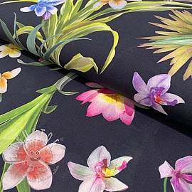 Cotton voile Tropical dream negro