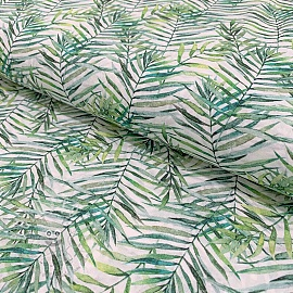 Cotton voile Wild verde