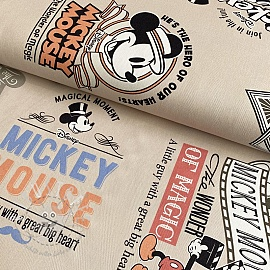 Dekostoff Mickey Mouse Film beige digital print