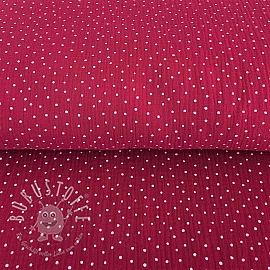 Double gauze/musselin Dots fuchsia/white