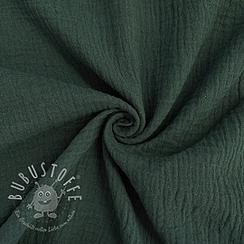Double gauze/muslin forest green