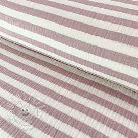Double gauze/muslin STRIPES bordeaux