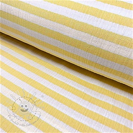 Double gauze/muslin STRIPES yellow