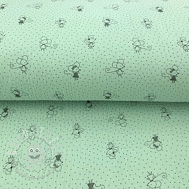 Double gauze/muslin Sweet mouse mint