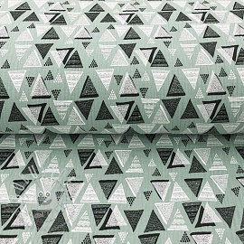 Double gauze/muslin Triangles mint