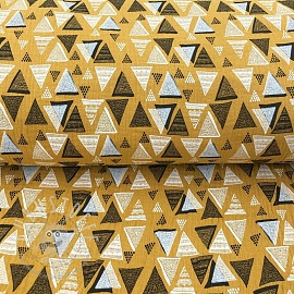 Double gauze/muslin Triangles ochre