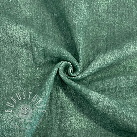 Double gauze/musselin Crinkled Jeans old green
