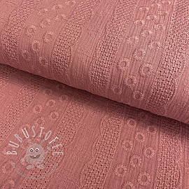 Double gauze/musselin Embroidery Ornament old pink