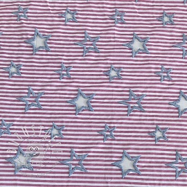 Embroidery Stars pink