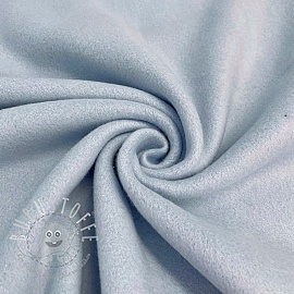 Fleece baumwoll light blue