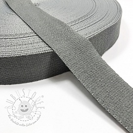 Gurtband Baumwolle 4 cm light grey
