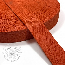 Gurtband Baumwolle 4 cm orange