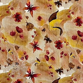 Jersey pointoille Gaia Butterfly digital print