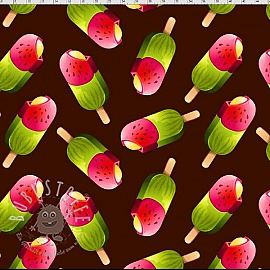 Jersey Ice lolly sweets digital print 2.Klasse