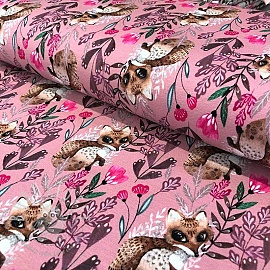 Jersey Little fox old pink digital print