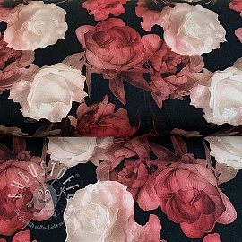 Jersey Mix Diadem Roses digital print