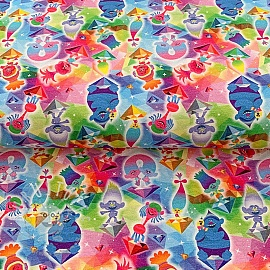 Jersey Trolls Crystals multi digital print