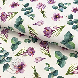 Jersey Ziva flowers digital print