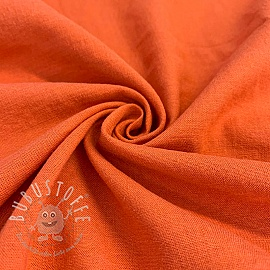 Leinen viskosestoff BRIGHT ORANGE