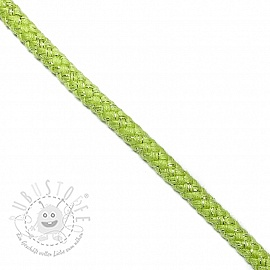 Lurexkordel 10 mm lime