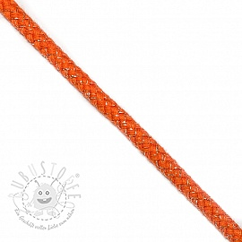 Lurexkordel 10 mm orange