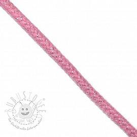 Lurexkordel 10 mm pink