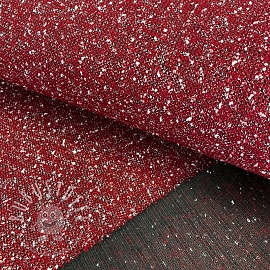 Mantelstoff BOUCLE Marion red