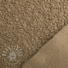 Mantelstoff BOUCLE taupe