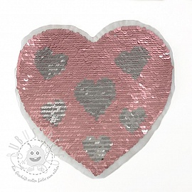 Pailletten reversibel Heart in heart