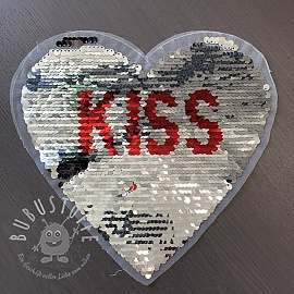 Pailletten reversibel Heart kiss