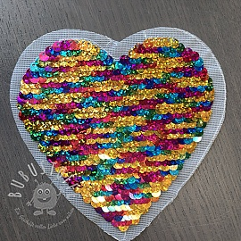 Pailletten reversibel Heart mini multicolor