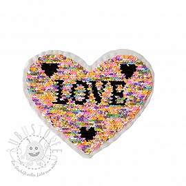 Pailletten reversibel Lovely heart pastel
