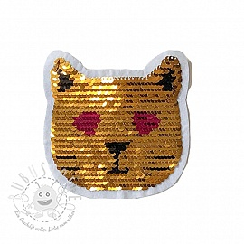 Pailletten reversibel SMALL Cat