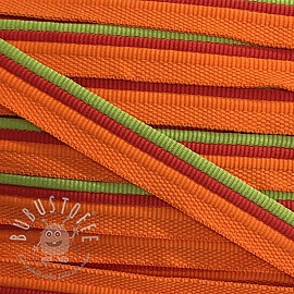 Paspelband Trio orange/lime