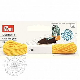 PRYM LOVE Espadrilles Kreativgarn yellow