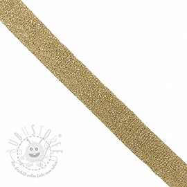 Schrägband LUREX light gold