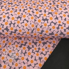 Softshell Lovely flowers dark grey