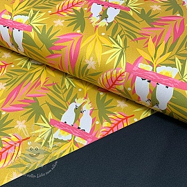 Softshell SPORT Tropical paradise mustard digital print