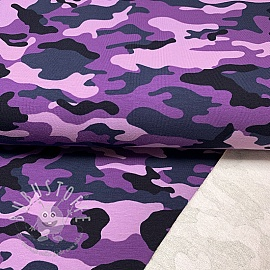Sommersweat Camouflage purple